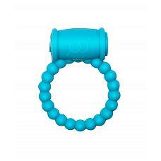 Голубое эрекционное кольцо Rings Drums  Эрекционное кольцо с вибрацией из серии Rings подходит для стимуляции обоих партнеров.