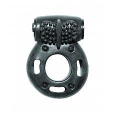 Черное эрекционное кольцо с вибрацией Rings Axle-pin  Эрекционное кольцо с вибрацией из серии Rings подходит для стимуляции обоих партнеров.