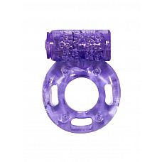 Фиолетовое эрекционное кольцо с вибрацией Rings Axle-pin  Эрекционное кольцо с вибрацией из серии Rings подходит для стимуляции обоих партнеров.