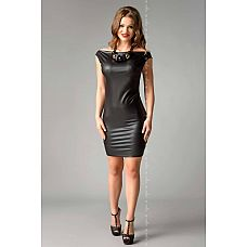 Облегающее платье из материала под кожу Joline  Облегающее платье из материала под кожу Joline.