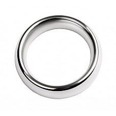 Металлическое эрекционное кольцо размера S  Блестящий мужской аксессуар, способный не только продлить половой акт за счет сдерживания кровотока, но и добавить уверенности и харизмы своему обладателю.