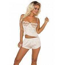 Соблазнительный комплект для сна Sheryl  Комплект белья Sheryl с кружевными вставками, состоит из топа и шорт.