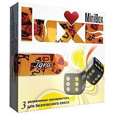 Презервативы Luxe Mini Box  Игра  - 3 шт.  Привнести в секс элемент игры   проще, чем вы думаете.