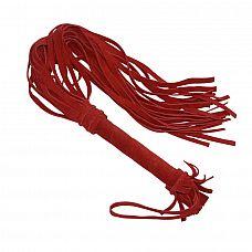 Красная плеть «Королевский велюр» - 65 см.  Оригинальная красная плеть «Королевский велюр», изготовлена из высококачественной велюровой кожи, которая на ощупь необычайно бархатистая и мягкая.