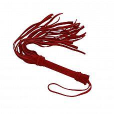 Красная мини-плеть «Королевский велюр» - 40 см.  Для новичков, желающих перемен, компания Sitabella предлагает прекрасный секс-аксессуар   плеть «Королевский велюр».