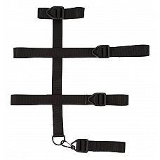 Мужской бондаж из прочных ремней  Для настоящих профессионалов!  Бондаж выполнен из прочных ремней, которые фиксируют шею, руки и верхнюю часть туловища.