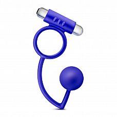 Синее эрекционное кольцо Penetrator Anal Ball with Vibrating Cock Ring  Синее эрекционное кольцо Penetrator Anal Ball with Vibrating Cock Ring.