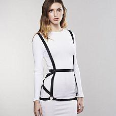 Чёрная упряжь ARROW DRESS HARNESS  Упряжь, вдохновленная классическим рабством, отлично сочетается с вашими лучшими нарядами, бельем или просто на вашем голом теле.