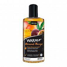 Разогревающий массажный гель Joy Division WARMup с ароматом манго и маракуйи - 150 мл.  Разогревающее массажное масло с потрясающим тропическим ароматом манго и маракуйя.