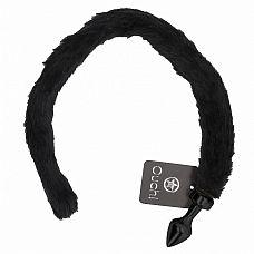 Чёрная анальная пробка с кошачьим хвостом Kitty Tail  Анальная пробка с кошачьим хвостиком.