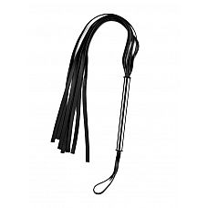 Чёрная плеть с металлической ручкой   Чёрная плеть с металлической ручкой.