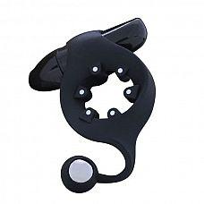 Чёрное эрекционное кольцо с магнитами MOJO MAGNETO  Чёрное эрекционное кольцо с магнитами MOJO MAGNETO. 7 режимов вибрации.