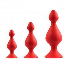 Набор из 3 красных анальных силиконовых втулок MENZSTUFF 3-PIECE ANAL PAWN SET  Набор из 3 красных анальных силиконовых втулок MENZSTUFF 3-PIECE ANAL PAWN SET.