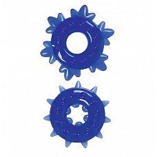 Набор из 2 синих эрекционных колец Spike Rings  Набор из 2 синих эрекционных колец Spike Rings.
