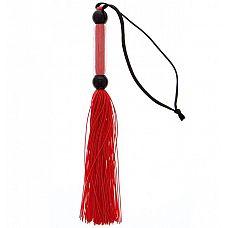 Красная мини-плеть из силикона и акрила SILICONE FLOGGER WHIP - 25,6 см.  Красная мини-плеть из силикона и акрила SILICONE FLOGGER WHIP.