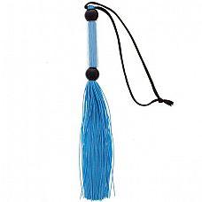 Голубая мини-плеть из силикона и акрила SILICONE FLOGGER WHIP - 25,6 см.  Голубая мини-плеть из силикона и акрила SILICONE FLOGGER WHIP.