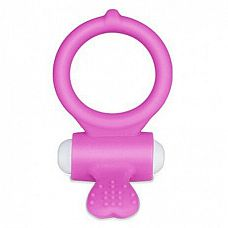 Розовое виброкольцо для пениса Power Heart Clit Cockring  Power Heart Clit Cockring имеет мощный, но тихий моторчик для того, чтобы радовать дополнительными стимуляциями обоих партнеров.
