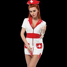 """Костюм Медсестра one size Men`s dreams 5007md  """"Костюм «медсестра» создан для того, чтобы воплотить в реальность все свои фантазии."""