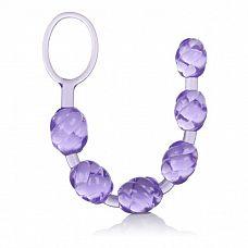 Фиолетовая анальная цепочка Swirl Pleasure Beads - 20 см.  Шесть бусин со спиралевидным рельефом, соединённых в одну гибкую цепочку  Не это ли лучший стимулятор для вашей попки?  Погружаясь (или ввинчиваясь) в ваше тело   нежно и так чувственно   цепочка заполнит собой анус, а также усилит возбуждение в разы.