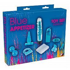 Голубой вибронабор из 8 предметов Blue Appetizer  Голубой вибронабор из 8 предметов Blue Appetizer.
