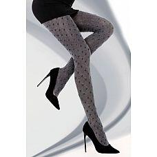 Колготки Maurene с геометрическим рисунком  Колготки из осенне-зимней коллекции, с геометрическим рисунком, ромбы визуально делают ноги более стройными.