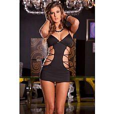 Облегающее платьице с имитацией шнуровок по бокам  Облегающее платьице с имитацией шнуровок по бокам.