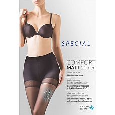 Утягивающие колготки Comfort Matt 20 den  Утягивающие в бедрах и талии колготки с экстрактом коллагена.