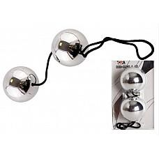 Серебряные вагинальные шарики (ToyFa885006)  Серебряные вагинальные шарики, диаметром 3 см, для тренировки мышечной стенки влагалища.
