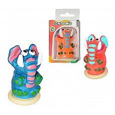 Сувенирный латексный презерватив  Слон   Сувенир представляет собой изделие из натурального латекса, с красочной, забавной фигуркой в верхней части.