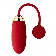 Красное виброяйцо Ella с управлением через смартфон   Красное виброяйцо Ella с управлением через смартфон.