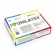 Разноцветные ароматизированные презервативы Unilatex Multifruits - 144 шт.  Презервативы стандартного размера, гладкая поверхность, эргономичной формы, цветной латекс красного, желтого и синего цветов, в натуральной гипоаллергенной смазке на основе силиконового масла с ароматом клубники, банана и мультифрукта.