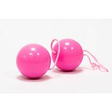Розовые вагинальные шарики BI-BALLS (ToyFa 885006-3)  Вагинальные шарики розового цвета, со смещенным центром тяжести. Диаметр 3 см.