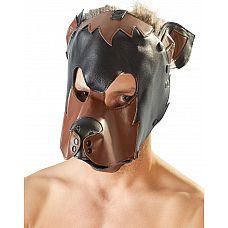 Маска на голову в виде собаки  Маска на голову в виде собаки. Двухцветная, размер унисекс.