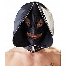 Двухслойный шлем-маска с отверстиями для глаз и рта  Двухслойный шлем-маска с отверстиями для глаз и рта. Лицо при необходимости закрывается на замок.