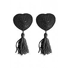"""Пестисы Tassels Heart Black SH-OU029BLK  """"Одной из последних модных тенденций среди девушек стали накладки на соски различных форм, материалов и цветов."""