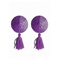 """Пестисы Tassels Round Purple SH-OU030PUR  """"Одной из последних модных тенденций среди девушек стали накладки на соски различных форм, материалов и цветов."""