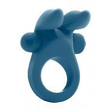 Виброкольцо Bunny Cockring Blue SH-MJU009BLU