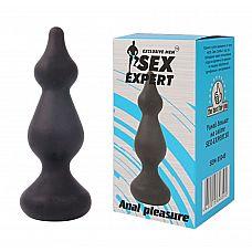 Фигурная анальная втулка Sex Expert - 10 см.  Пополни свой сексуальный арсенал анальной втулкой от Sex Expert! Интимный аксессуар подарит яркие и незабываемые эмоции.