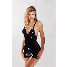 Платье на бретелях из латекса Latex Dommina Dress  Маленькое чёрное платье на бретелях  из тонкого латекса. Открытая спина и чашечки спереди - подчеркнёт Вашу фигуру и добавит эротизма. Платье из эластичного латекса добавит страстного напряжения в спальне партнеров. Эротическое белье подобного покроя прекрасно преподносит все достоинства фигуры. Глубокое декольте мини платья идеально подчеркивает изящную грудь.
