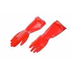 Перчатки  Перчатки из натурального латекса красного цвета