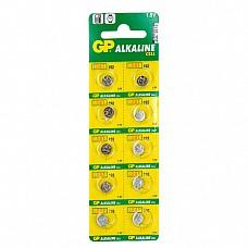 Батарейки  GP LR41 10 шт  Алкалиновые батарейки GP типа LR41 в форме таблеток.