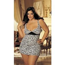 Мини платье с принтом леопарда  Сексапильное платье с блестками и принтом леопарда.