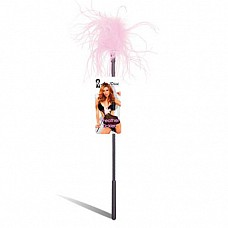Ласкающая палочка с розовыми перьями FEATHER TICKLER LF1460-PNK  Ласкающая палочка из пластика с мягким пушистым наконечником из розовых перьев.