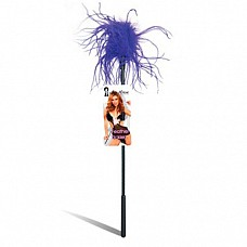 Ласкающая палочка с фиолетовыми перьями FEATHER TICKLER LF1460-PUR  Ласкающая палочка из пластика с мягким пушистым наконечником из фиолетовых перьев.