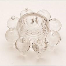 Прозрачное гелевое эрекционное кольцо  (ToyFa 818001-1)  Симпатичная гелевая насадка, которая поможет мужчине усилить эрекцию и продлить половой акт. <br>За счет шишечек на поверхности, вы сможете воздействовать на клитор вашей партнерши настолько сильно, что буквально за считанные минуты ее тело пронзит яркий незабываемый оргазм. <br>Насадка очень мягко и хорошо растягивается.