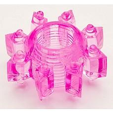 Розовое гелевое эрекционное кольцо (ToyFa 818002-3)  Эрекционное гелевое кольцо, одевающееся за головку полового члена или на его основание. <br>В первом случае дополнительно стимулируются чувствительные области внутри влагалища за счет щипчиков и пупырышек. <br>Во-втором - усиливается эрекция и происходит мягкое воздействие на клитор и предвагинальной зоны во время близости. <br>Очень эластичное, хорошо растягивается