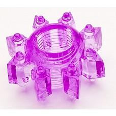 Фиолетовое гелевое эрекционное кольцо (ToyFa 818002-4)  Симпатичная гелевая насадка, которая поможет мужчине усилить эрекцию и продлить половой акт. <br>За счет шишечек на поверхности, вы сможете воздействовать на клитор вашей партнерши настолько сильно, что буквально за считанные минуты ее тело пронзит яркий незабываемый оргазм.