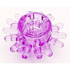 Фиолетовое гелевое эрекционное кольцо (ToyFa 818003-4)  Гелевое прозрачное эрекционное кольцо диаметром 1 см. <br>Для дополнительной стимуляции предвагинальной зоны женщины на кольце имеются щипчики длиной 0,7 см. <br>Колечко очень эластичное, хорошо растягивается, подойдет на любой Размер полового члена.
