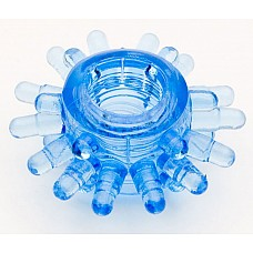 Голубая гелевая насадка (ToyFa 818003-6)  Эрекционное силиконовое кольцо, одевающееся за головку полового члена или на его основание: <br>В первом случае дополнительно стимулируются чувствительные области внутри влагалища. <br>Во-втором - усиливается эрекция и происходит мягкое воздействие на клитор и предвагинальную зону во время близости. <br>Упаковка: пакетик.