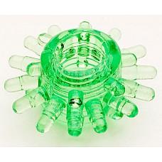 Зеленое эрекционное кольцо из гелия (Toyfa 818003-7)  Эрекционное силиконовое кольцо, одевающееся за головку полового члена или на его основание. <br>В первом случае дополнительно стимулируются чувствительные области внутри влагалища за счет щипчиков и пупырышек. <br>Во-втором - усиливается эрекция и происходит мягкое воздействие на клитор и предвагинальной зоны во время близости. <br>Очень эластичное, хорошо растягивается
